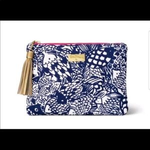 "Lilly Pulitzer Blue & White ""Upstream"" Pouch"